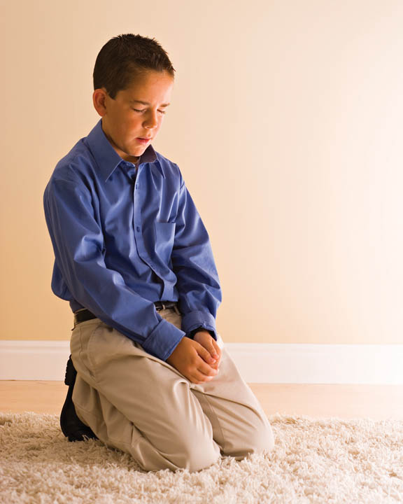 Mormon Praying Boy